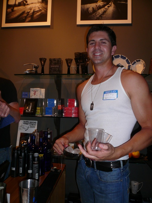 Best (straight) Bartender to a Gay Party!