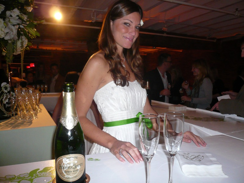 Sarah and Perrier Jouet
